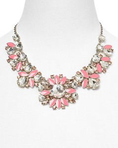 Kate Spade New York Frosty Floral Short Necklace, $198USD.