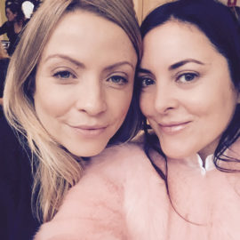 Beauty Editors Rachael Mannell and Sally Hunwick all smiles at the St Tropez Summit.